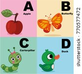 vector illustration of alphabet ... | Shutterstock .eps vector #770577472