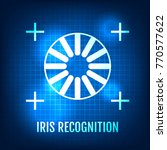 iris recognition concept icon.... | Shutterstock .eps vector #770577622