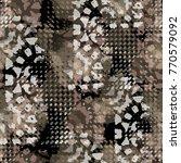 seamless pattern animal design. ...   Shutterstock . vector #770579092