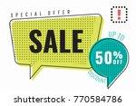 sale special offer 50  ... | Shutterstock .eps vector #770584786