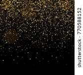 golden glitter sparkle bubbles... | Shutterstock .eps vector #770588152