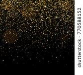 golden glitter sparkle bubbles... | Shutterstock .eps vector #770588152