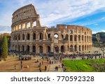 rome  italy   3 december 2017   ...   Shutterstock . vector #770592328
