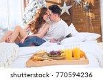 beautiful romantic couple.... | Shutterstock . vector #770594236