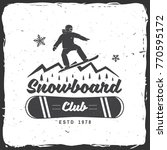 snowboard club. vector... | Shutterstock .eps vector #770595172