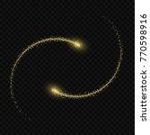 vector light effect. golden... | Shutterstock .eps vector #770598916
