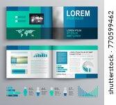 blue business brochure template ... | Shutterstock .eps vector #770599462