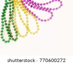 mardi gras beads  nothing says... | Shutterstock . vector #770600272