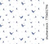 winter background with birds... | Shutterstock .eps vector #770601796