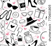 vector hand drawn seamless... | Shutterstock .eps vector #770601805