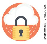 flat icon representing cloud... | Shutterstock .eps vector #770602426