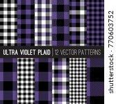 ultra violet buffalo check... | Shutterstock .eps vector #770603752