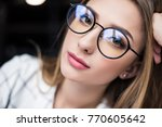 close up portrait of beautiful... | Shutterstock . vector #770605642