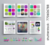 colorful business brochure... | Shutterstock .eps vector #770606788