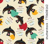 bright mexican folk seamless...   Shutterstock .eps vector #770608162