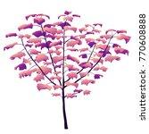 realistic vector tree in mystic ... | Shutterstock .eps vector #770608888
