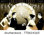 the party at the bar in the... | Shutterstock .eps vector #770614165