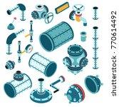 industrial steampunk spare... | Shutterstock .eps vector #770614492