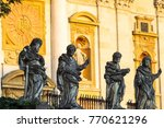 statues of 4 apostles at the... | Shutterstock . vector #770621296