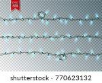 christmas festive lights.... | Shutterstock .eps vector #770623132