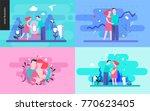 reproduction   set of vector... | Shutterstock .eps vector #770623405