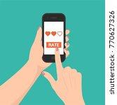 vector smartphone in the hand... | Shutterstock .eps vector #770627326