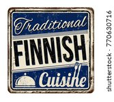 traditional finnish cuisine... | Shutterstock .eps vector #770630716