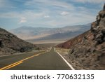 the open road near death valley ... | Shutterstock . vector #770632135