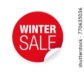 winter sale label sticker tag | Shutterstock .eps vector #770635036