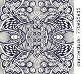 abstract handmade zen tangle... | Shutterstock .eps vector #770635615