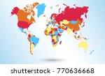color world map vector   Shutterstock .eps vector #770636668
