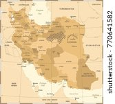 iran map   vintage high... | Shutterstock .eps vector #770641582