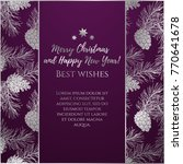 greeting new year and xmas card ... | Shutterstock .eps vector #770641678