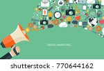 digital marketing concept. flat ... | Shutterstock .eps vector #770644162