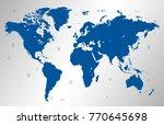 blue world map vector | Shutterstock .eps vector #770645698