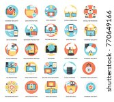 internet technology and... | Shutterstock .eps vector #770649166