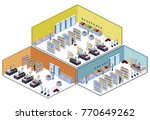 isometric 3d vector... | Shutterstock .eps vector #770649262