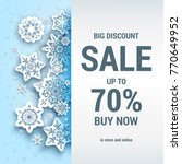 winter sale off template with... | Shutterstock .eps vector #770649952