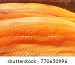fresh fish  frozen from the sea. | Shutterstock . vector #770650996