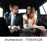 businessman and businesswoman... | Shutterstock . vector #770654128
