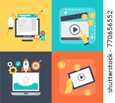 set of video marketing vector... | Shutterstock .eps vector #770656552