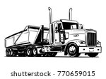 american truck with a semi dump ... | Shutterstock .eps vector #770659015