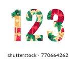 christmas alphabet set. green... | Shutterstock .eps vector #770664262