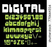 special strange fonts in vector  | Shutterstock .eps vector #770664316