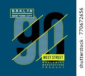 ninety number typography design ... | Shutterstock .eps vector #770672656