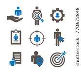 target market icons of buyer... | Shutterstock .eps vector #770672848