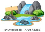 waterfall  sign in nature | Shutterstock .eps vector #770673388