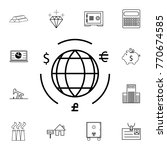 globe with money cycle symbol... | Shutterstock .eps vector #770674585