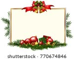 Christmas Card Template With...