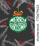 merry christmas poster design... | Shutterstock .eps vector #770679622